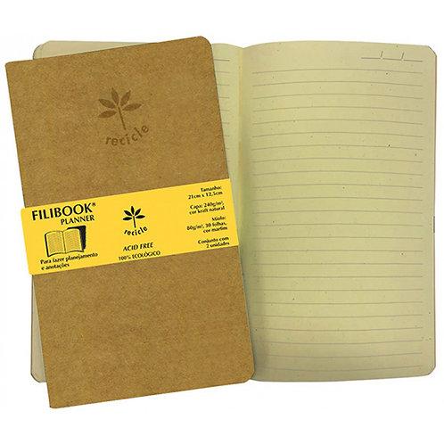 Filibook Planner C/2 Und. 21x12.5cm Kraft/Marfim - FILIPERSON