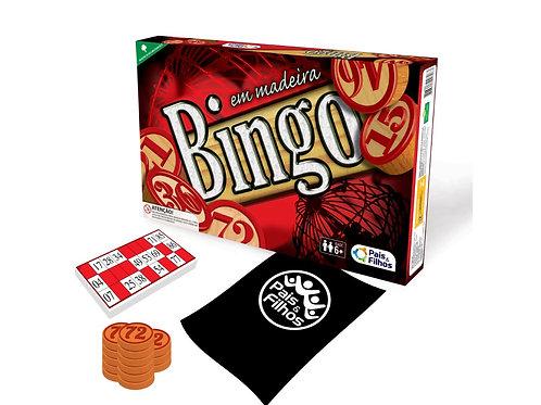 Bingo C/ Peças de Madeira -  PAIS E FILHOS