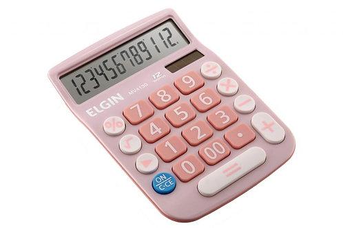 Calculadora de Mesa MV4130 Rosa - ELGIN