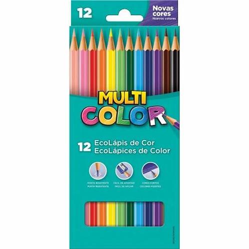 Lápis de Cor 12 Cores Multicolor - FABER CASTELL