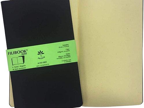 Filibook Note C/ 2 Und. Preto/Marfim - FILIPERSON