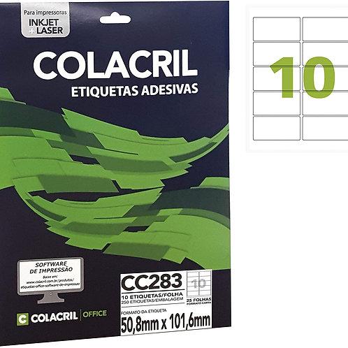 Etiqueta Carta com 25 Folhas REF: CC283 - COLACRIL