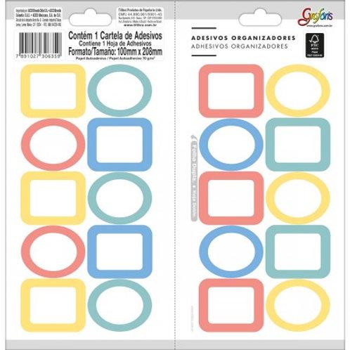 Adesivos Organizadores Misto Colorido - GRAFONS