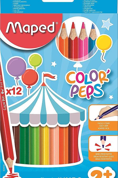 Lapis de Cor 12 Cores Jumbo Color Peps - MAPED