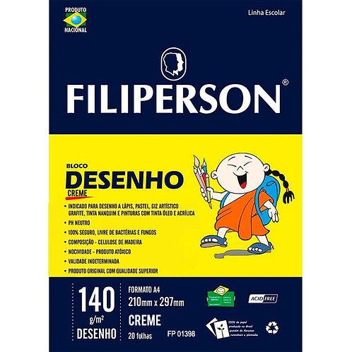 Bloco Desenho A4 Creme 140g - FILIPERSON
