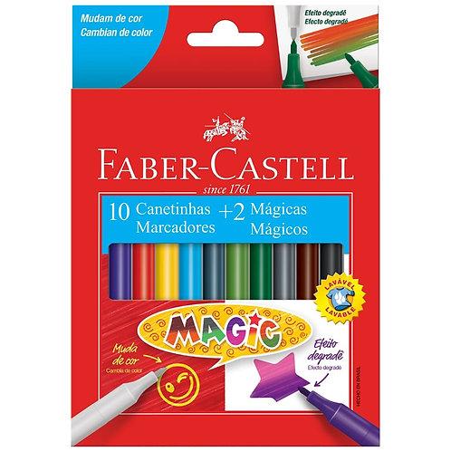 Canetinha 10 Cores + 2 Mágicas - FABER-CASTELL