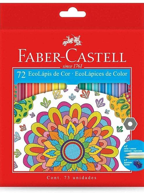 Lápis de Cor C/ 72 Cores + Apontador - FABER CASTELL