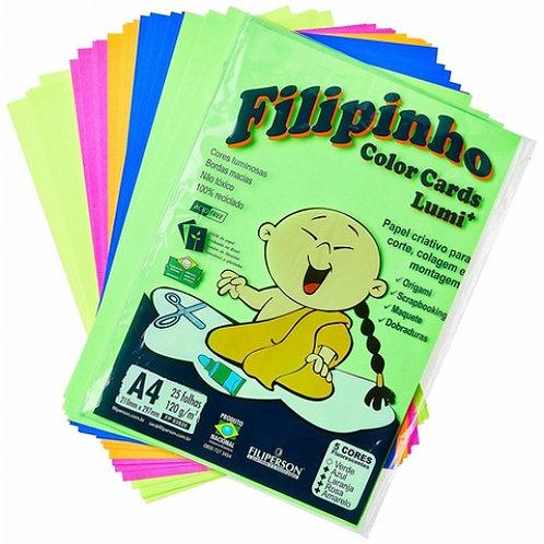 Papel Filipinho 5 Cores 120g - FILIPERSON