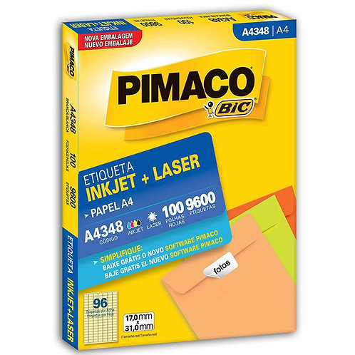 Etiqueta A4 100 Folhas REF: A4348 - PIMACO