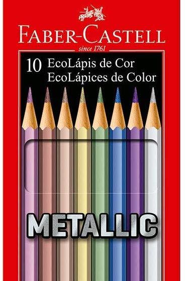Lápis de Cor 10 Cores Metálicas - FABER CASTELL
