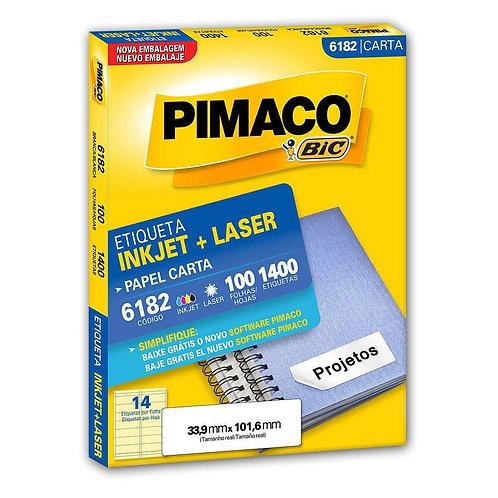 Etiqueta Carta 100 Folhas REF: 6182 - PIMACO