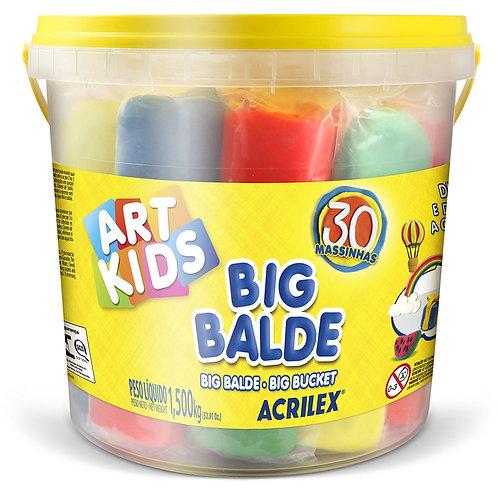Big Balde C/30 Massinhas Soft - Art Kids - ACRILEX