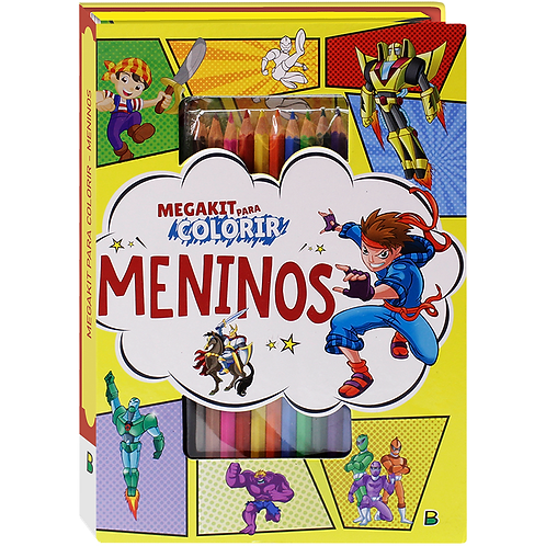 MegaKit P/ Colorir - Meninos - TODOLIVRO