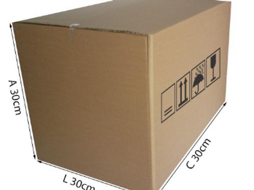 Caixa Triplex 1 30 cm x 30 cm x 30 cm - DELLA