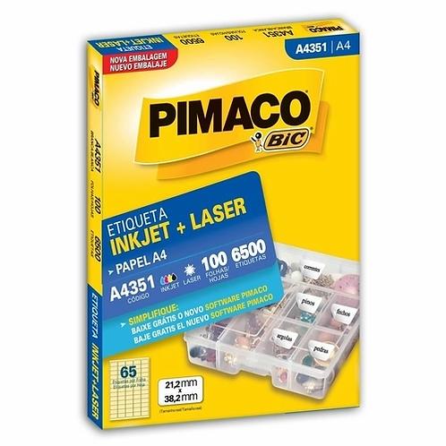 Etiqueta A4 100 Folhas REF: A4351 - PIMACO