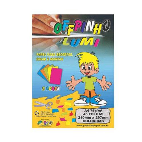 Papel Offpinho Lumi 5 Cores 45 Folhas - OFF PAPER