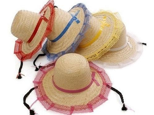 Chapéu de Palha com Tranças