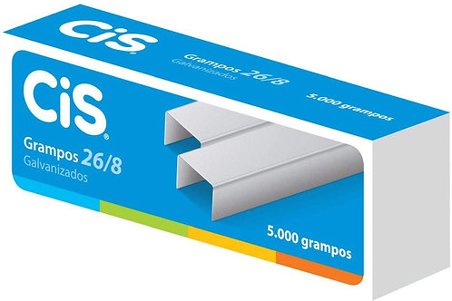 Grampos 26/08 Galvanizados C/ 5.000 Grampos - CIS