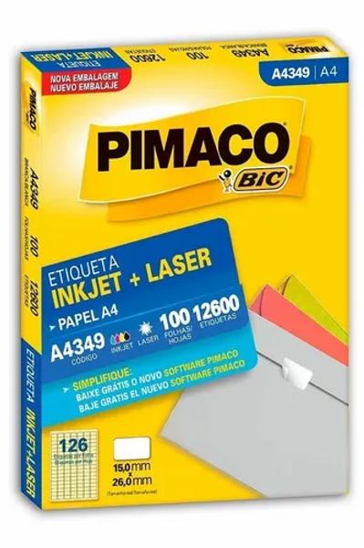 Etiqueta A4 100 Folhas REF: A4349 - PIMACO