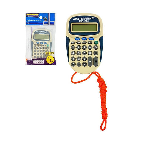 Calculadora Eletrônica MP-1051 C/ 8 Dígitos - MASTERPRINT