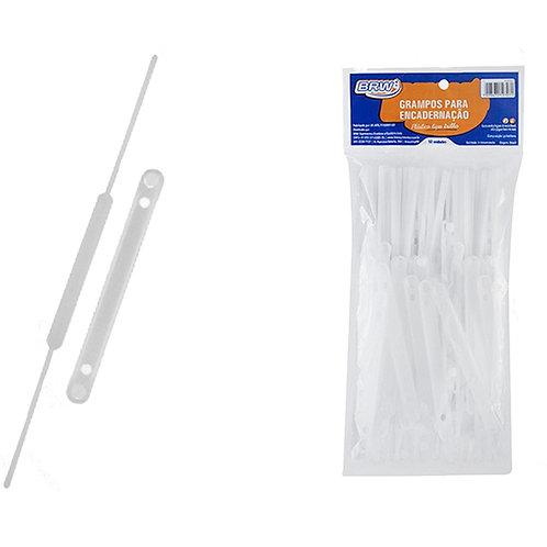 Grampo Trilho Plástico com 50 Unidades - BRW