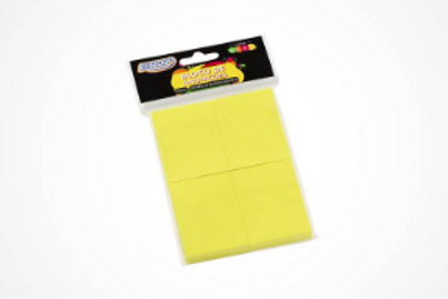 Bloco Adesivo 4X100 Folhas - Amarelo 38X51 - BRW