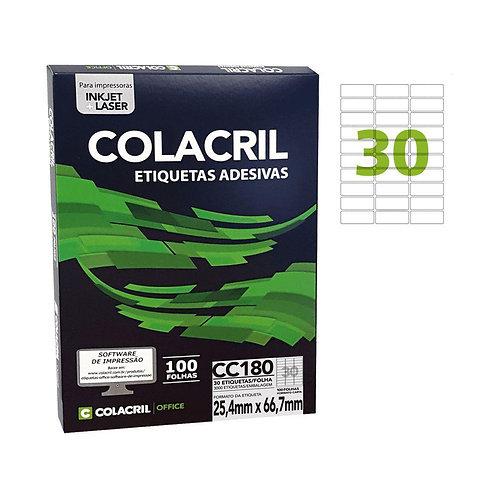 Etiqueta Carta com 100 Folhas REF: CC180 - COLACRIL