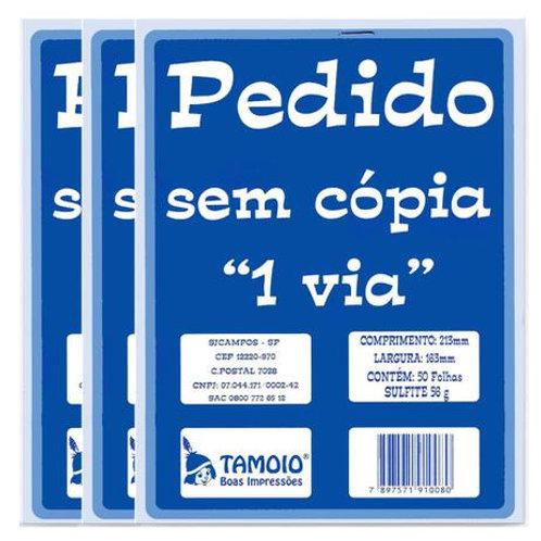 Pedido 1 Via C/ 50 Folhas - TAMOIO