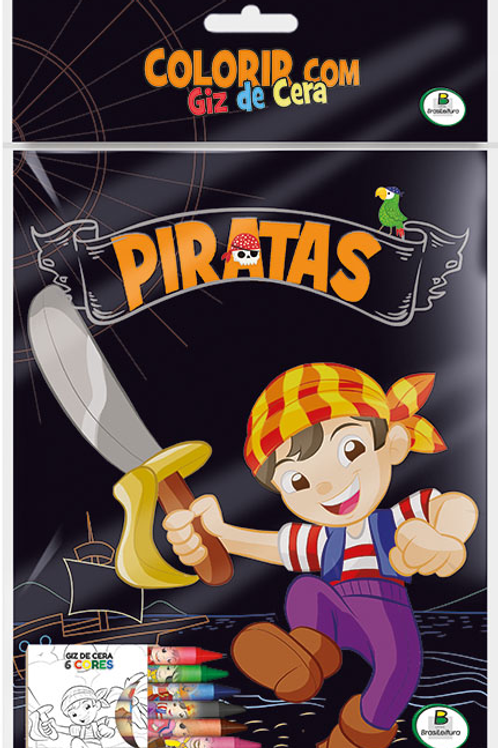 Colorir com Giz de Cera Piratas - TODOLIVRO