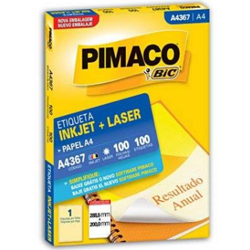 Etiqueta A4 - REF: 4367 288,5 MM X 200,0MM - PIMACO
