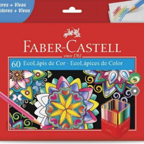 Lápis de Cor C/ 60 Cores - FABER CASTELL