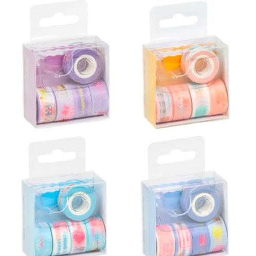 Washi Tape com Dispenser com 5 Rolos - BRW