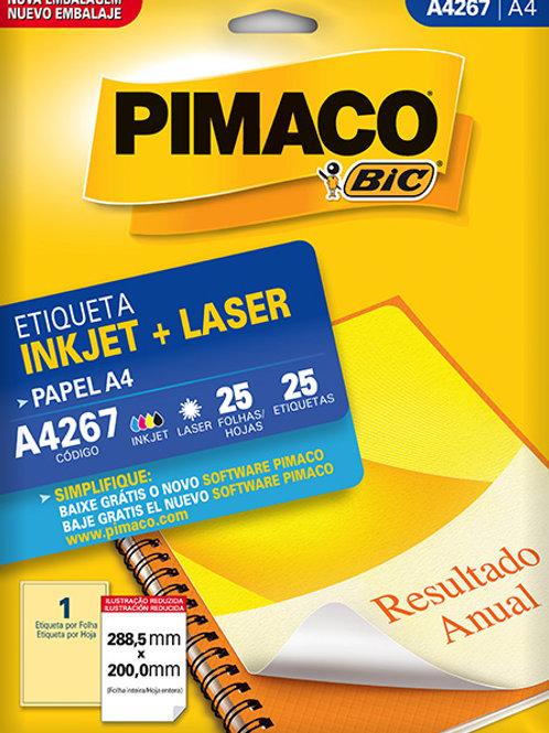 Etiqueta A4 25 Folhas REF: A4267 - PIMACO