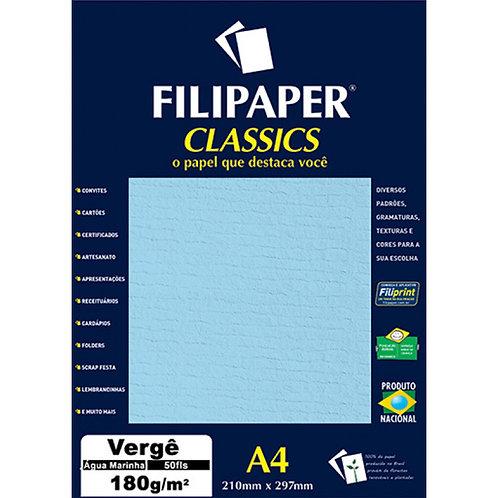 Papel Vergê A4 180g C/ 50 Folhas - FILIPERSON