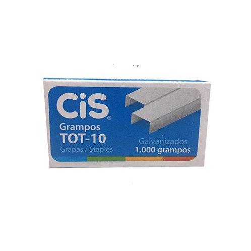 Grampo Galvanizado C/ 1000 TOT-10 - CIS