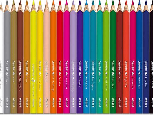 Lápis de Cor C/ 24 Cores Jumbo Color Peps - MAPED