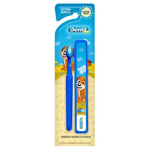 Escova de Dente Kids com Estojo Menino - DENTIL