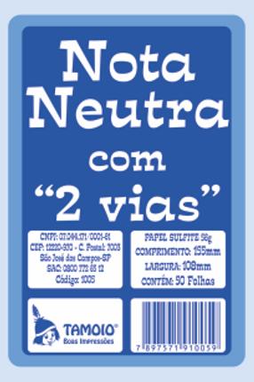 Nota Neutra Pequena C/ 50 Folhas - TAMOIO