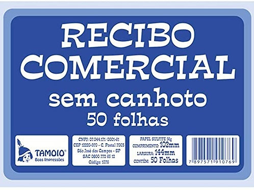 Recibo Comercial C/ 50 Folhas - TAMOIO