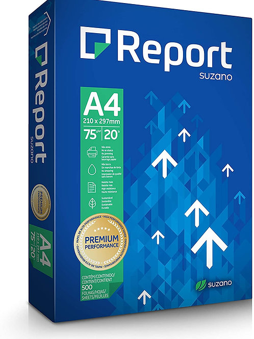 Sulfite A4 Branco 75g C/ 500 FLS - REPORT