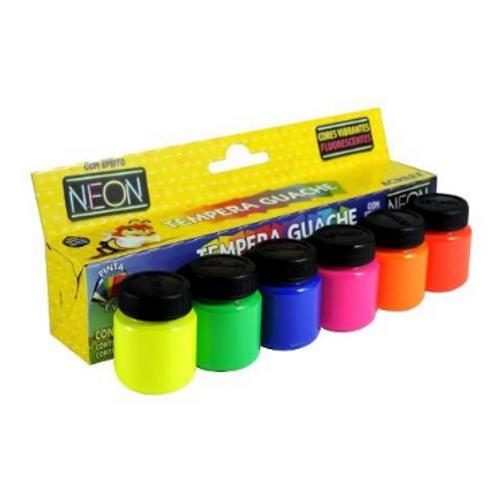 Tempera Guache Neon 6 Cores - ACRILEX