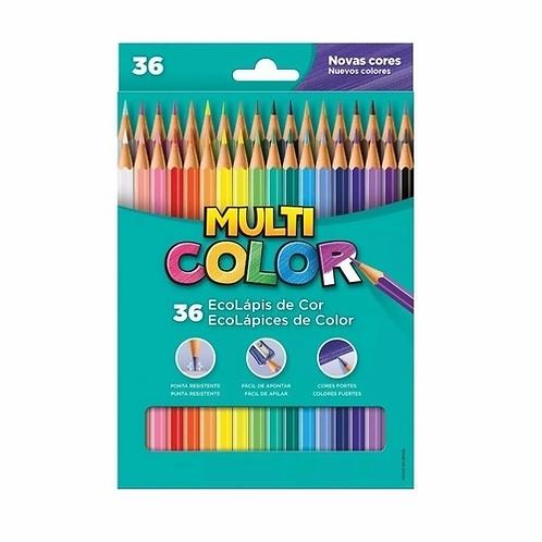 Lápis de Cor 36 Cores Multicolor - FABER CASTELL