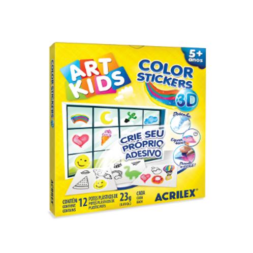 Color Stickers 3D Art Kids - ACRILEX