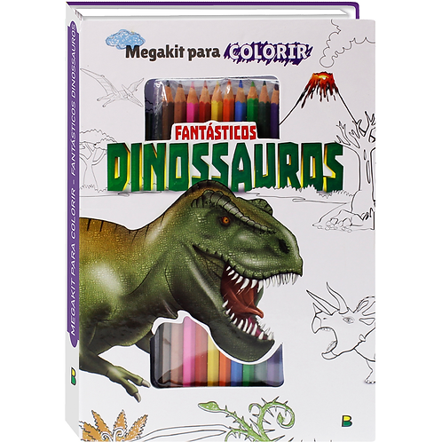 MegaKit P/ Colorir - Fantásticos Dinossauros - TODOLIVRO