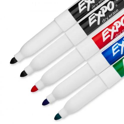Kit Marcador Fino 4 Cores C/ Apagador + Limpador - EXPO