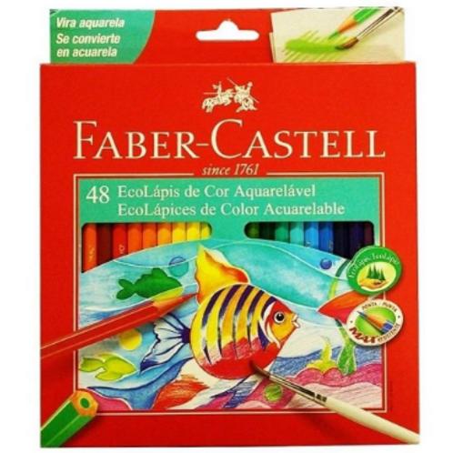 Lápis de Cor C/ 48 Cores Aquarelável - FABER CASTELL