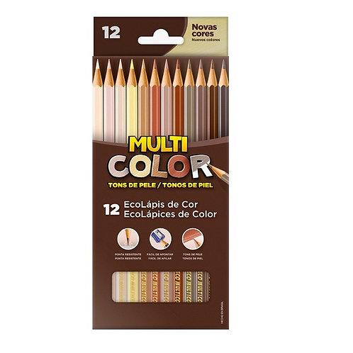 Lápis MultiColor 12 Cores Tons de Pele | FABER-CASTELL
