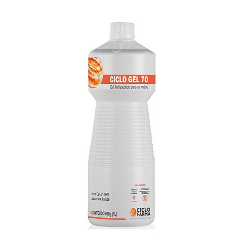 Álcool Gel 70° 860g C/ 1 Litro - CICLO FARMA