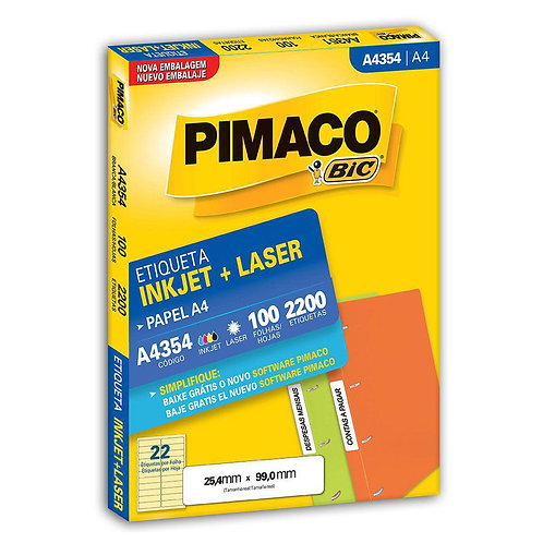 Etiqueta A4 100 Folhas REF: A4354 - PIMACO