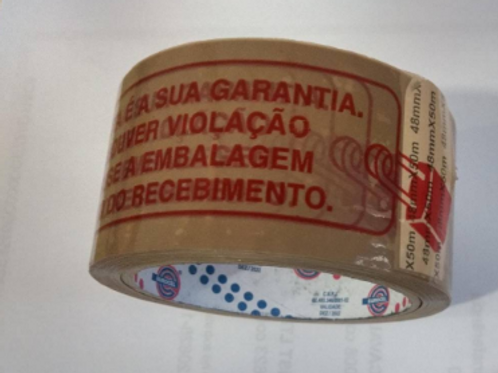 Fita Lacre de Segurança Marrom 48X50 - EUROCEL